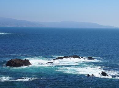 Aussicht auf den Pazifik bei *La Bufadora*.