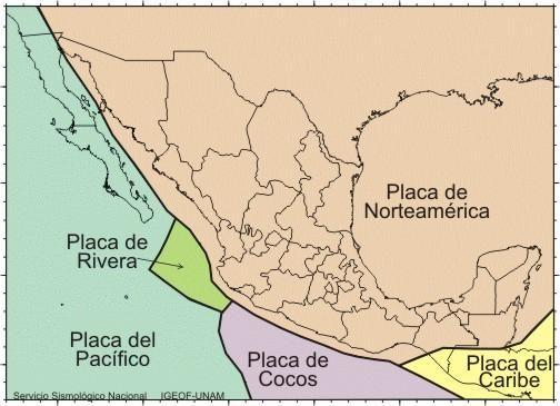 Platten in und um Mexiko.