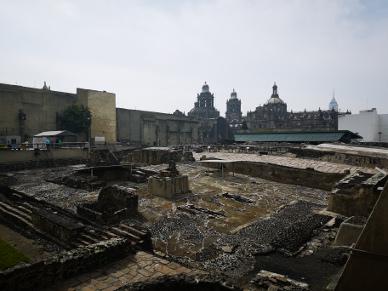 Die Ruinen des Templo Mayor.