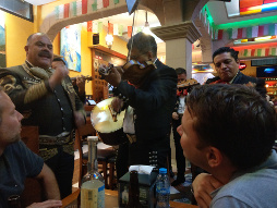 Mariachis in Action.