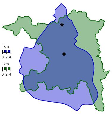 Mexiko-Stadt und der Kanton Aargau.