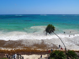 Strand bei Tulum.