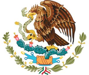 Mexikanisches Wappen.