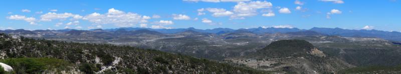 Panorama; Sierra de Oaxaca.