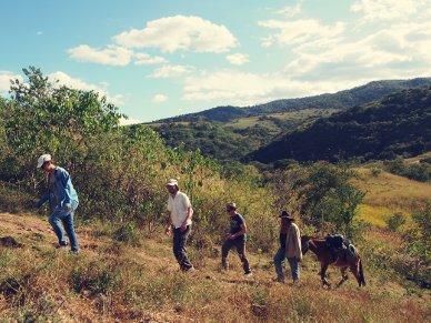 Beim Aufstieg zu Las Peñas.